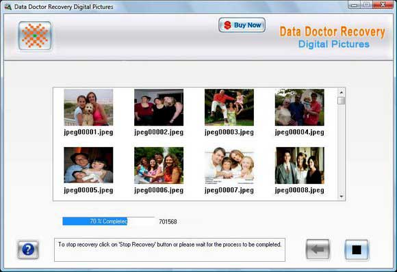 Recovery Software for Digital Pictures screen shot