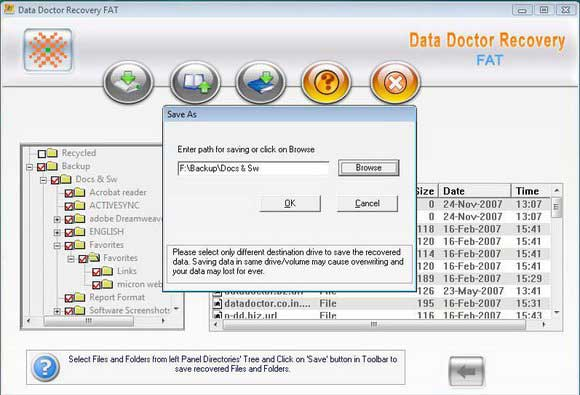 FAT32 FAT16 Data Recovery Software screen shot
