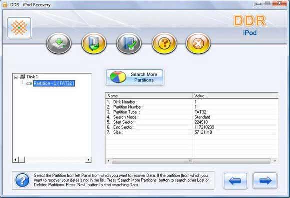 iPod Data Recovery Software screen shot