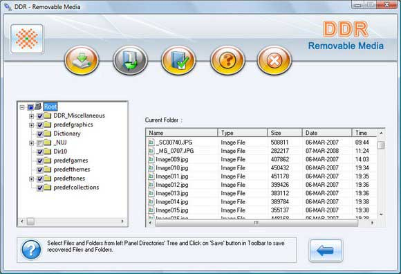 Recovery Software for USB Digital Media screen shot
