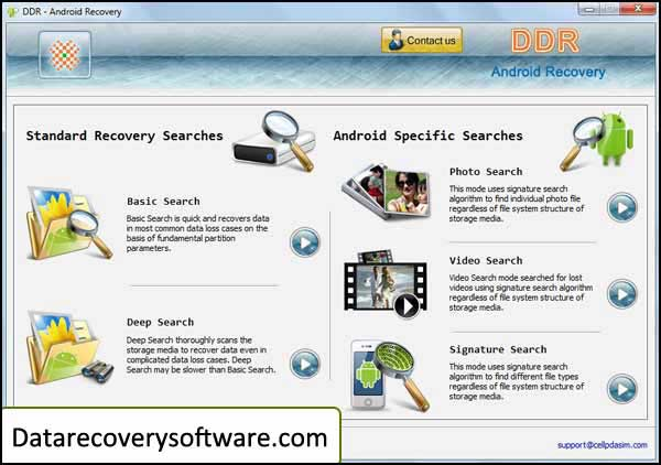 Recovery software to retrieve deleted data