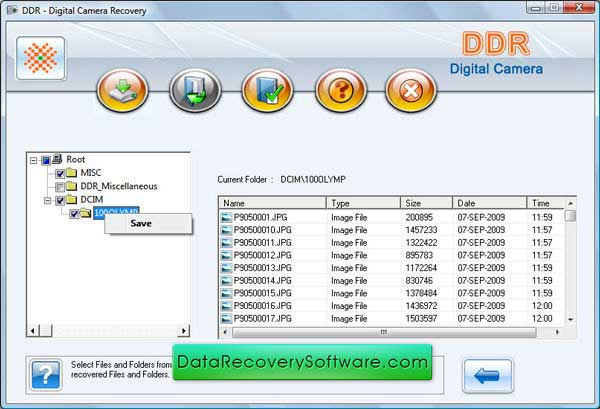 Restore data by Digital Camera Recovery tool