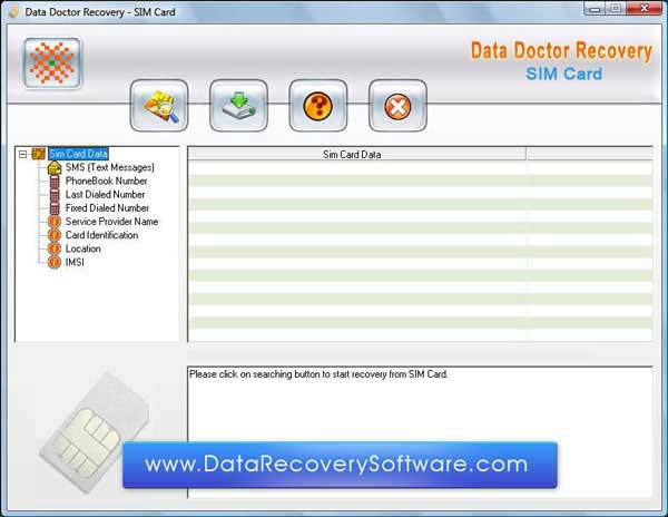 Sim Cards Recovery Tool regains missing files