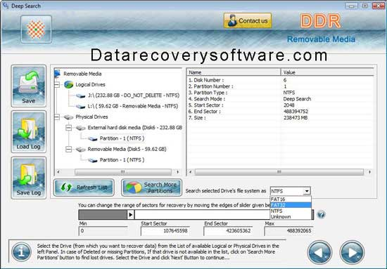 Excellent quality drive data revival utility